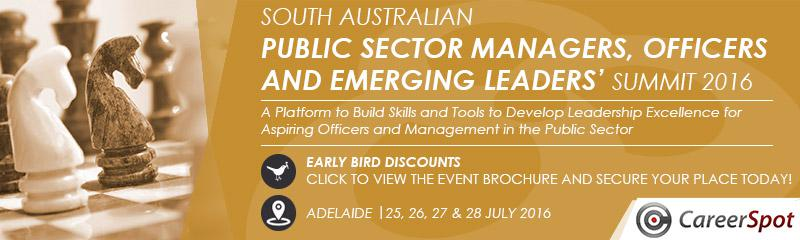 South Australian Public Sector Managers, Officers and Emerging Leaders' Summit 2016